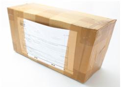 Коробка EMS с обратной стороны